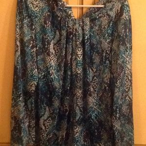 Beautiful Jones New York Snakeskin blouse Size 10